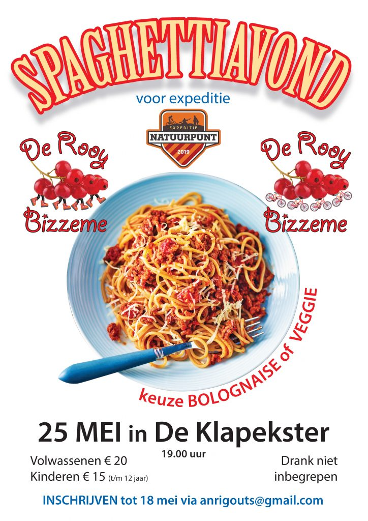 Spaghettiavond De Rooy Bizzeme