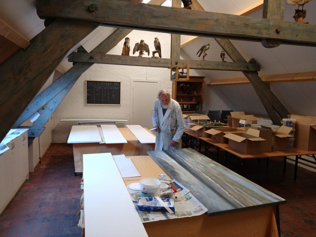 Karel Huet aan het werk